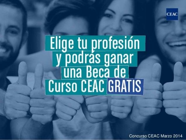 Elige tu profesión y podrás ganar una Beca de Curso CEAC GRATIS