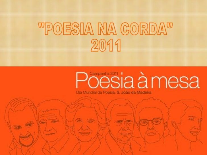 "POESIA NA CORDA 2011 ""POESIA NA CORDA""  2011"