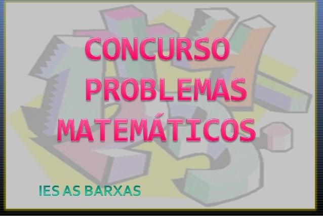 Concurso problemas matematicas