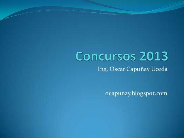Concursos 2013