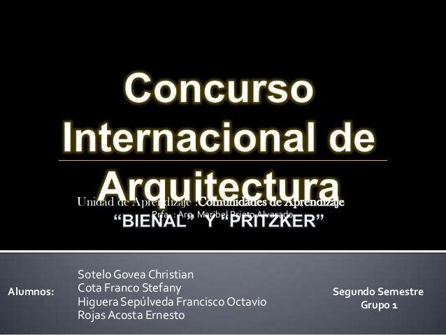 Concursos internacionales de arquitectura