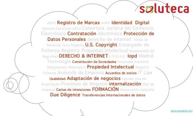 David García Fdez. de Peraleda. Derecho e Internetwww.soluteca.comAEPD Registro de Marcas AGPD Identidad DigitalEjercicio ...