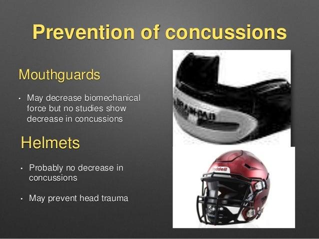 Mouthguard concussion study ncaa