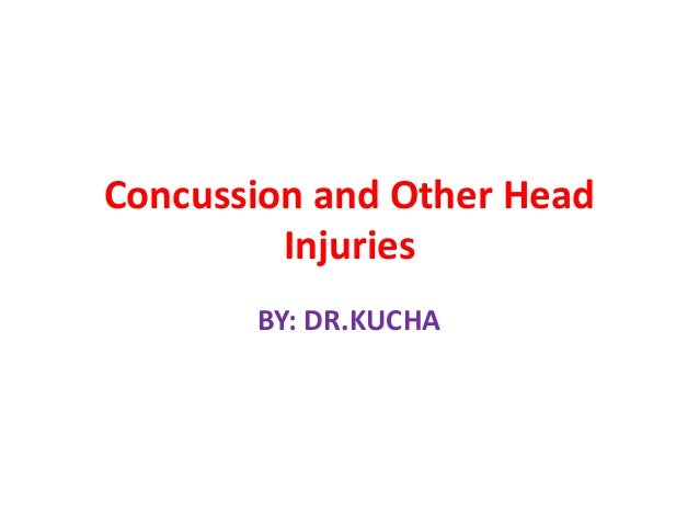 Concussion and other head injuries