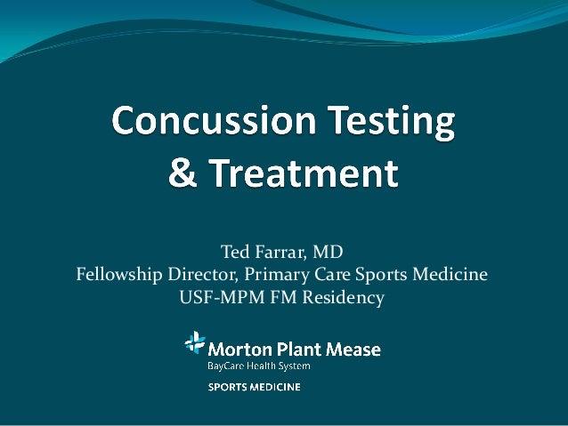 Ted Farrar, MDFellowship Director, Primary Care Sports Medicine            USF-MPM FM Residency