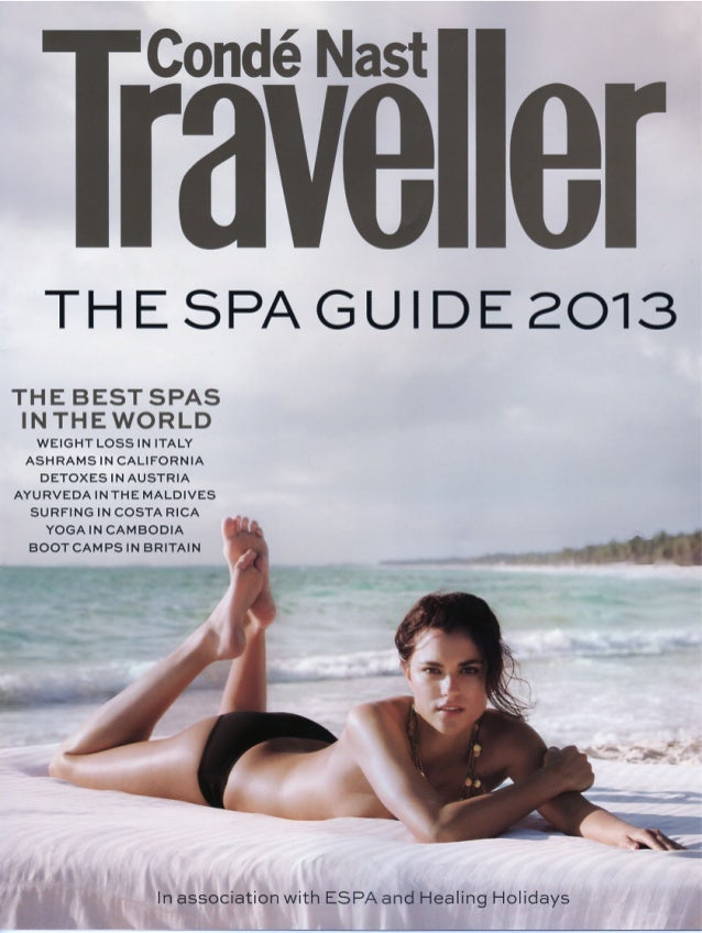 Condé Nast Traveller The Spa Guide 2013 - Miguel Guedes de Sousa