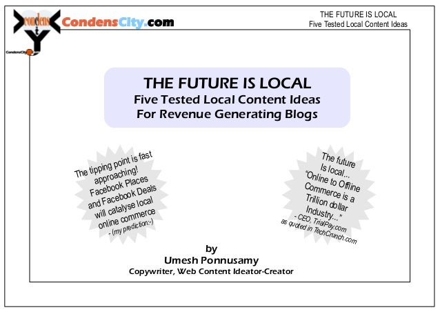 Five Tested Local Content Ideas For Revenue Generating Blogs
