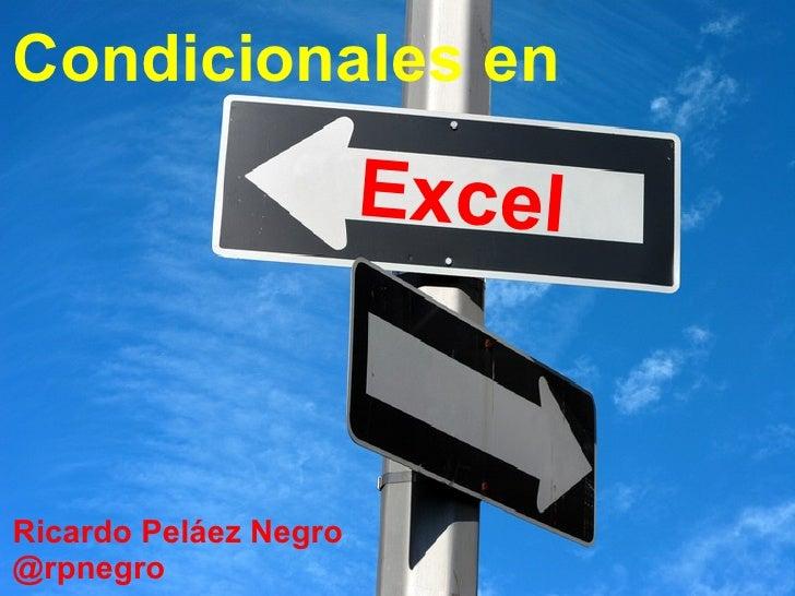 Condicionales en Excel - Funciones Lógicas