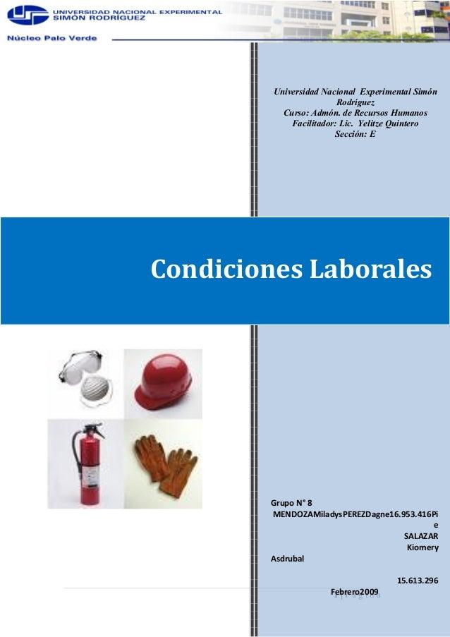 1   P á g i n a Universidad Nacional Experimental Simón Rodríguez Curso: Admón. de Recursos Humanos Facilitador: Lic. Yeli...