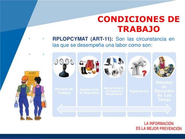 Condiciones de trabajo for Oficinas genesis seguros