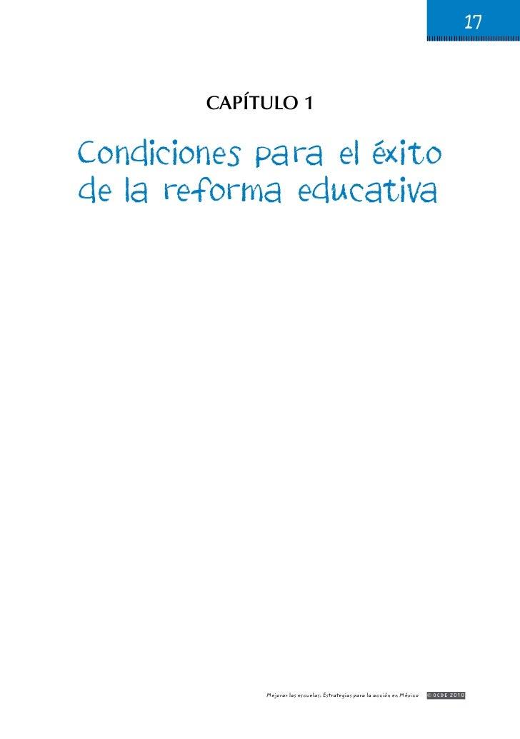 Condiciones para el exito de la reforma educativa