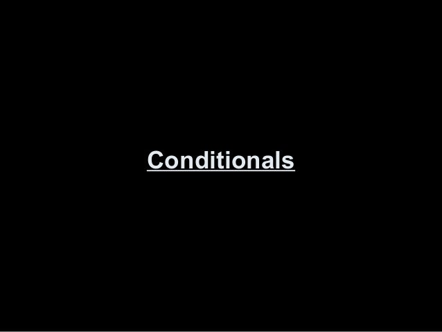 Conditionals I