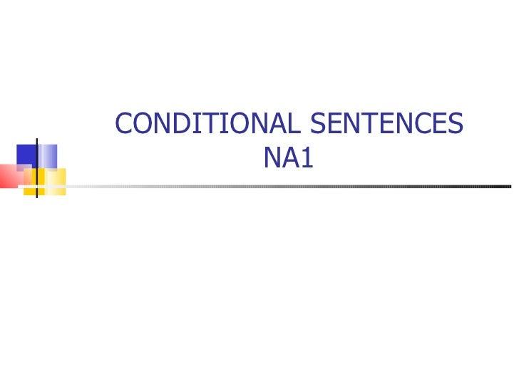 Conditional sentences na1