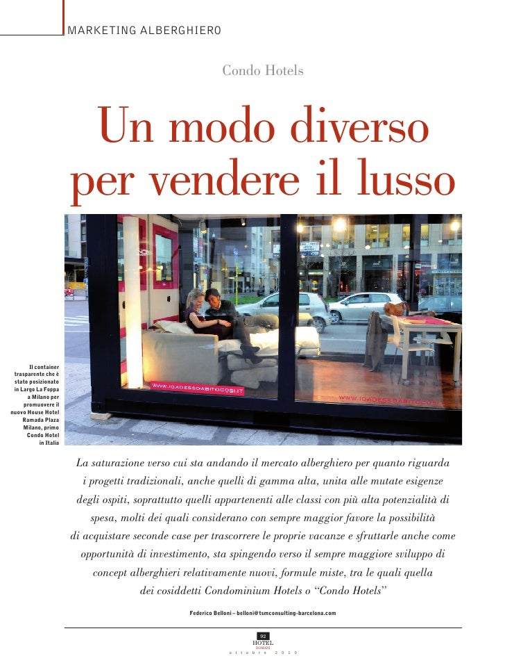 MARKETING ALBERGHIERO                                                                Condo Hotels                         ...