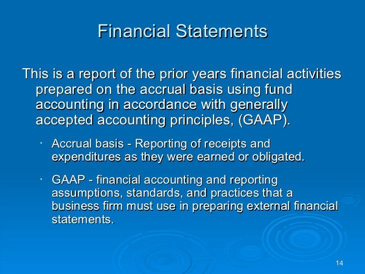 a comparison of the generally accepted accounting principles and the common bases of accounting Evolution of us generally accepted accounting principles (gaap) by stephen a zeff rice university the evolution discussed below.