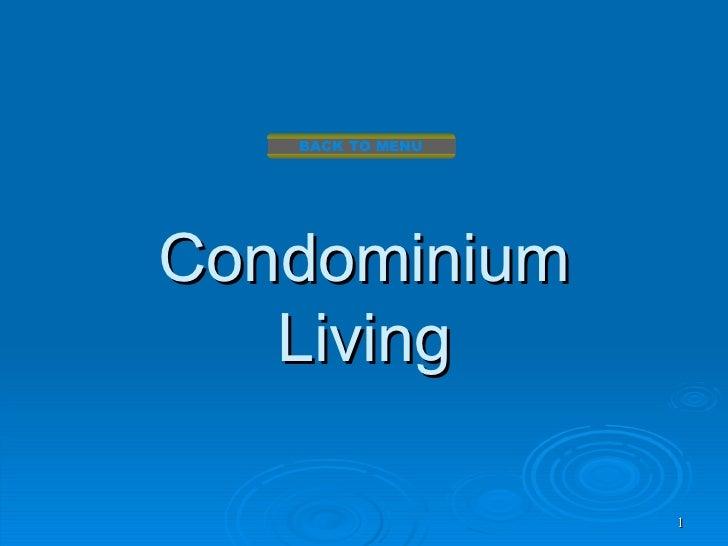 BACK TO MENUCondominium   Living                  1