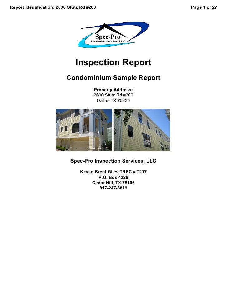 Report Identification: 2600 Stutz Rd #200                        Page 1 of 27                                    Inspectio...