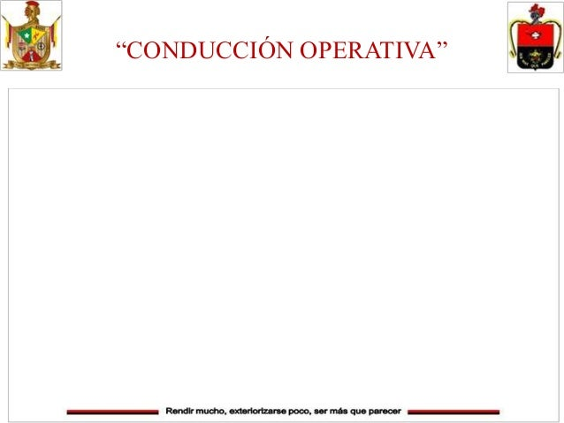 """""""CONDUCCIÓN OPERATIVA"""""""