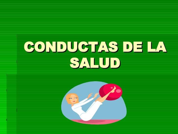 Conductas De La Salud