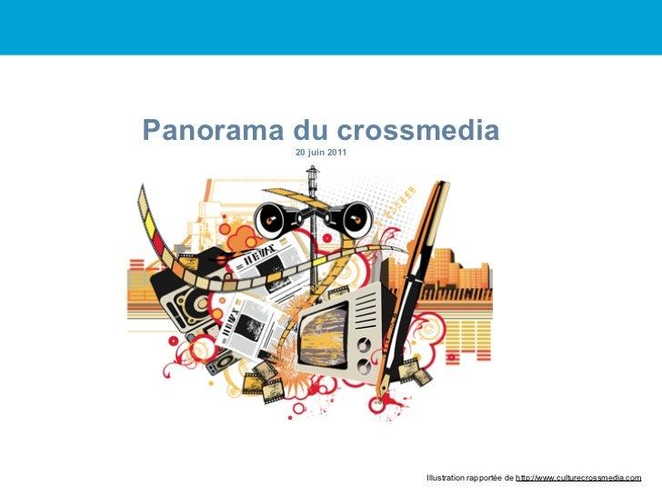 Panorama du crossmedia         20 juin 2011                        Illustration rapportée de http://www.culturecrossmedia....