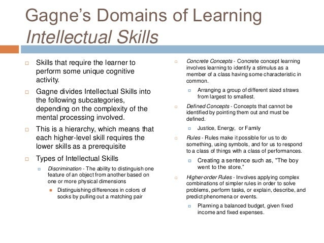 3 learning domains