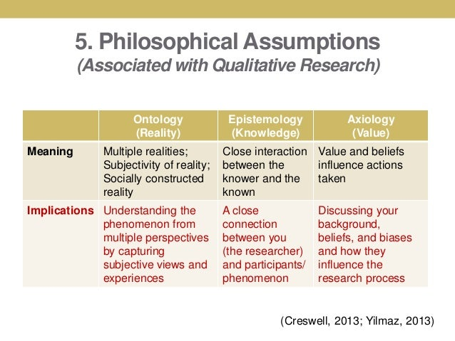Assumptions section of dissertation
