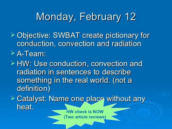 Conduction, Convection, Radiation