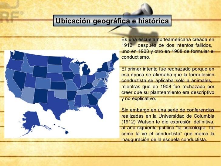 Ubicación geográfica e histórica                  Es una escuela norteamericana creada en                  1912, después d...