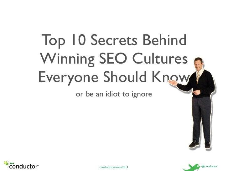 Top 10 Secrets of Successful SEO Cultures