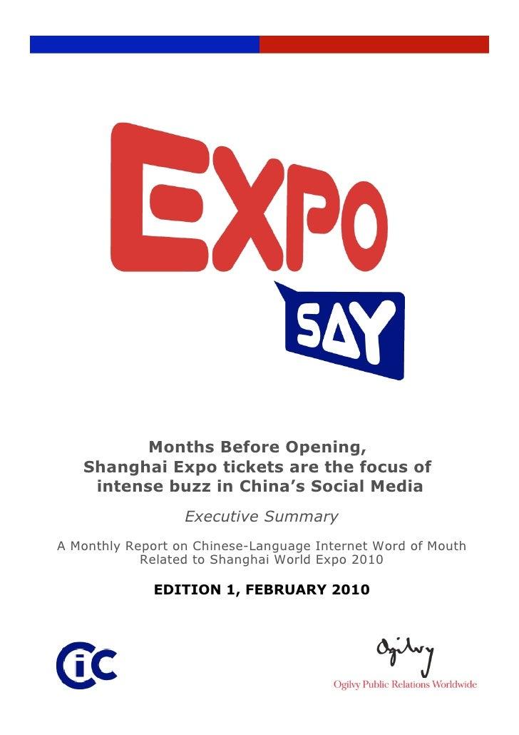 Shanghai Expo Chinese-language Social Media Buzz