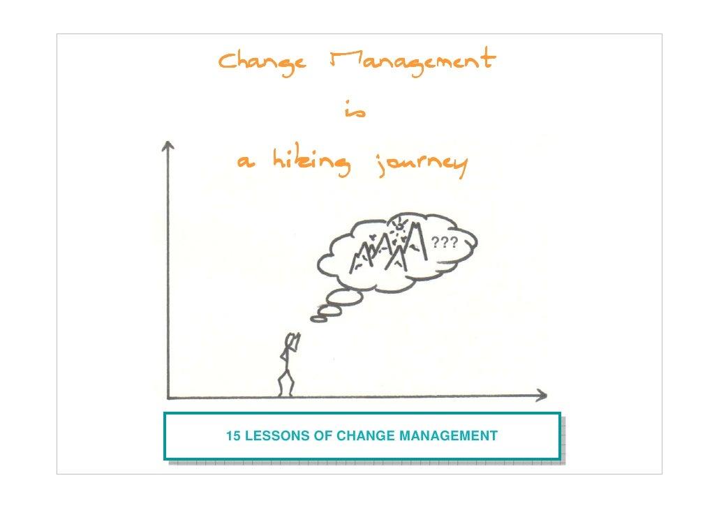 Change management: a hiking journey