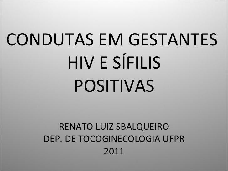 Condutas em gestantes hiv e sífilis positivas 2