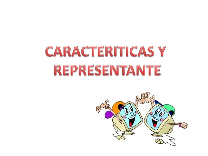 CARACTERITICAS Y <br />REPRESENTANTE<br />