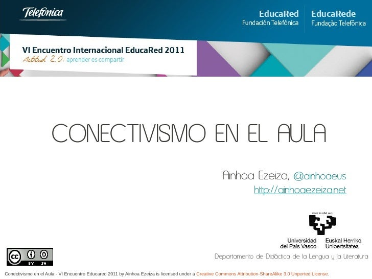 Conectivismo en el aula ezeiza educared2011