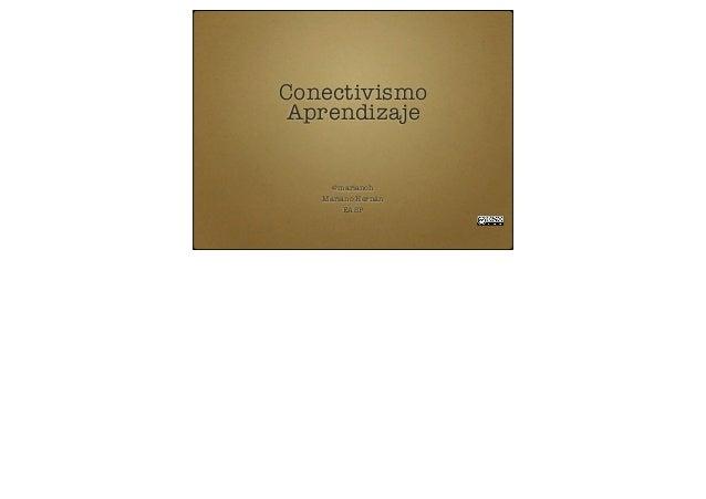 ConectivismoAprendizaje@marianohMariano HernánEASP