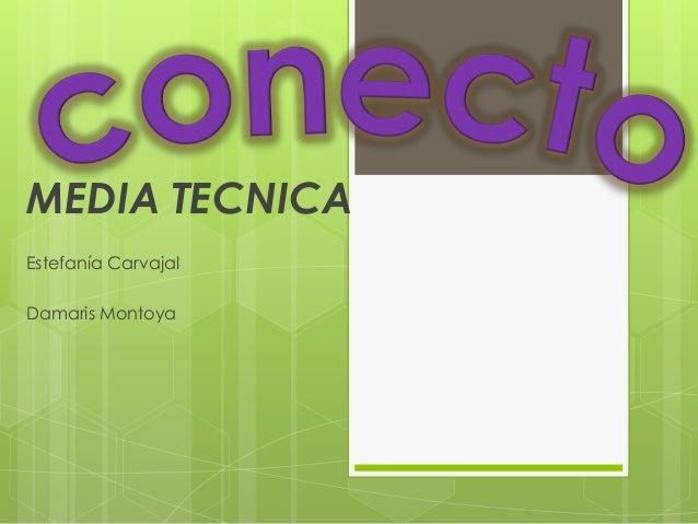 MEDIA TECNICA Estefanía Carvajal Damaris Montoya
