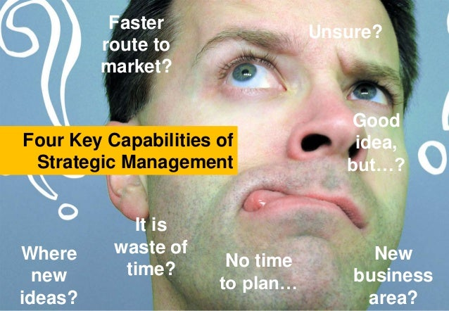 New business area? Where new ideas? Faster route to market? Unsure? Good idea, but…? No time to plan… Four Key Capabilitie...