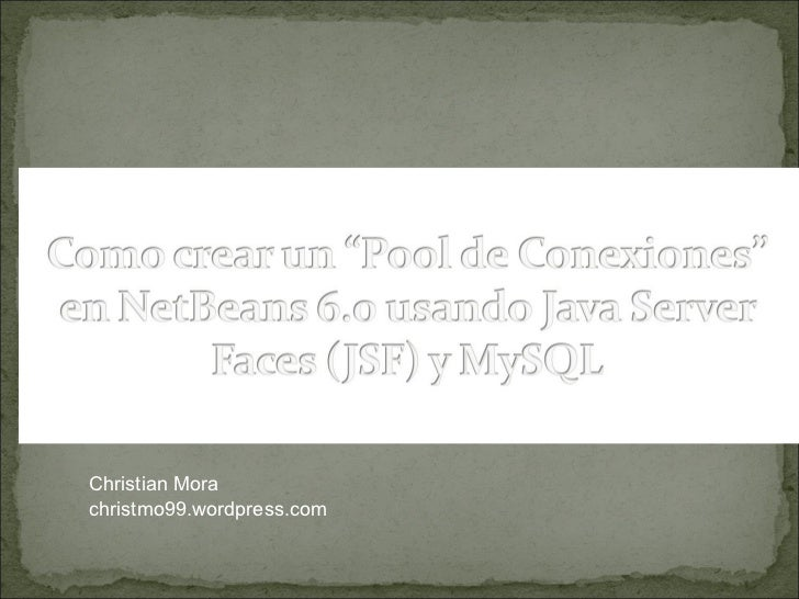 PoolConnection + MySql + NetBeans 6.0