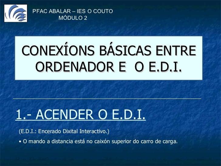 Conexions ordenador-EDI