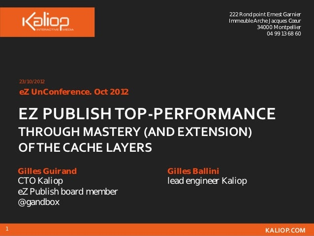 eZ UnConference - Z Publish top-performance through mastery (and extension) of the cache layers