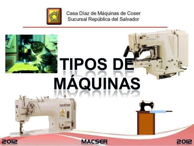 Conf. maquinas de coser industriales
