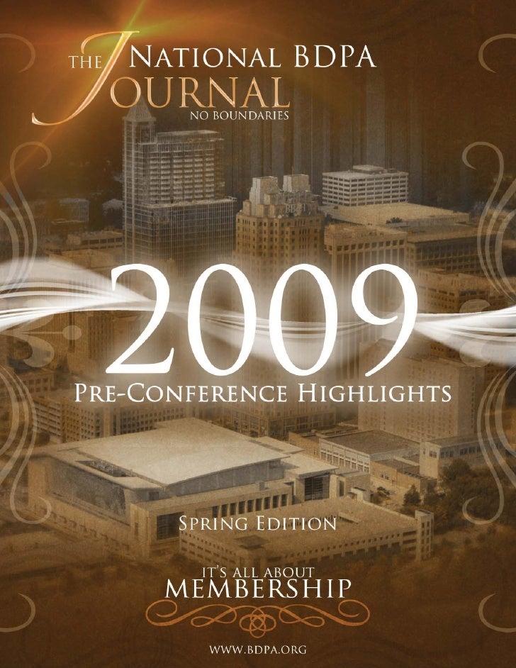 2009 National BDPA Pre-Conference JOURNAL