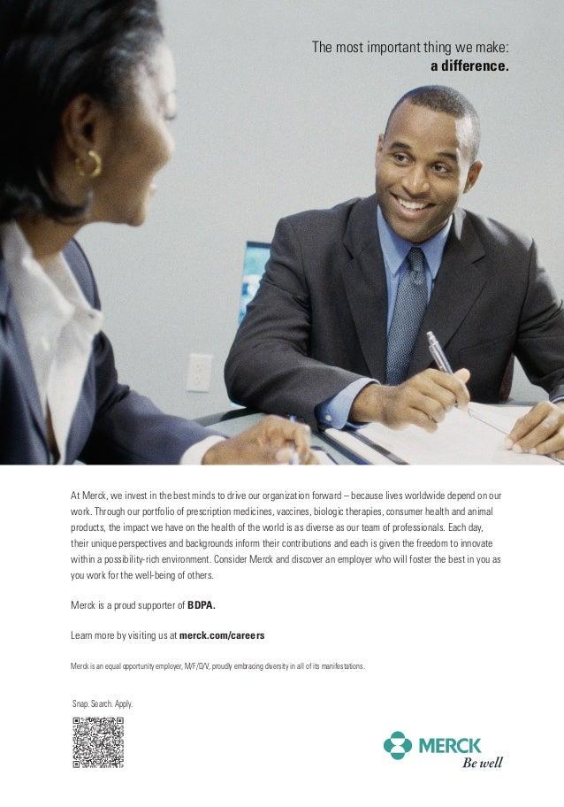 BDPA Conference Ad: Merck (2013)