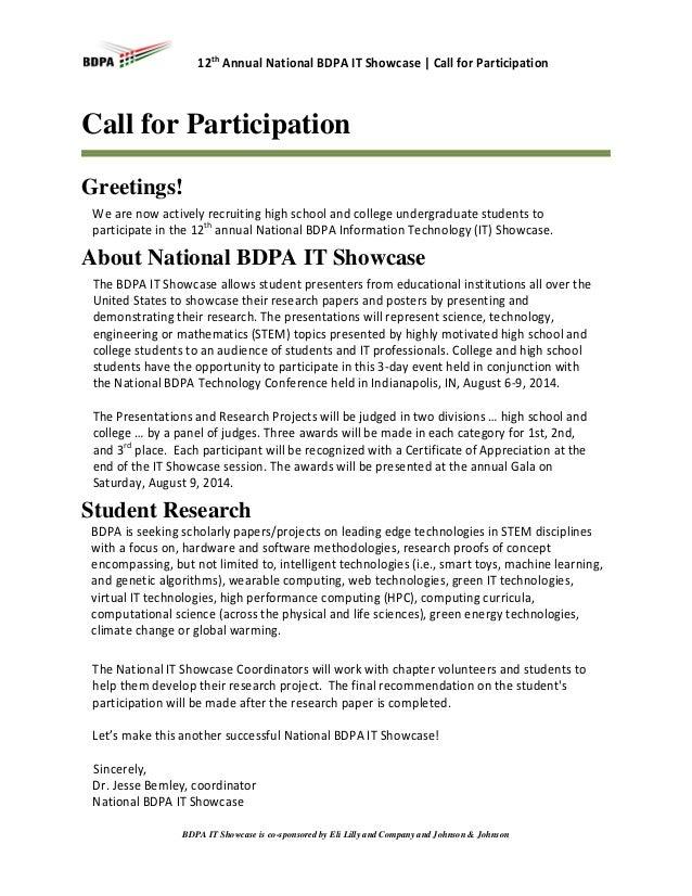 National BDPA IT Showcase | Call for Participation