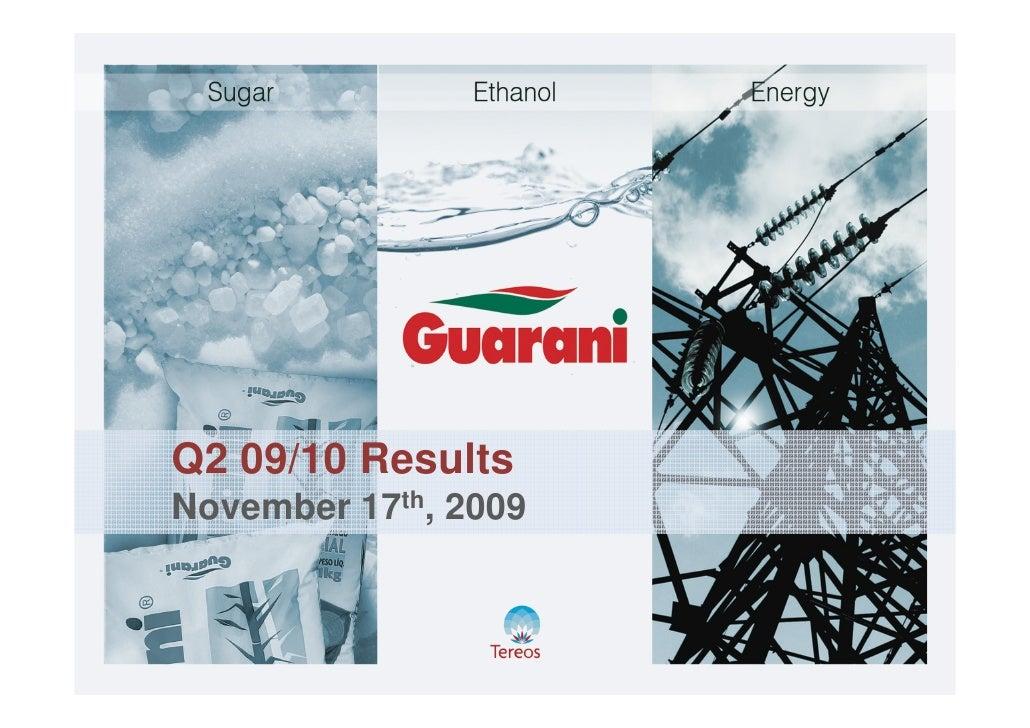 Q2 09/10 Results November 17th, 2009