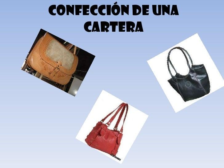 Confección de una    cartera