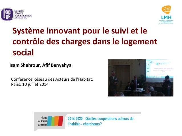 Système  innovant  pour  le  suivi  et  le   contrôle  des  charges  dans  le  logement   social...