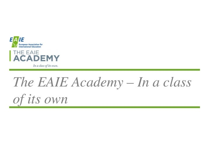 The EAIE Academy – In a classof its own