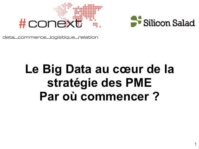 1 Le Big Data au cœur de la stratégie des PME Par où commencer ?