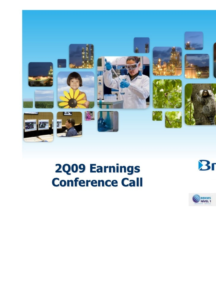 Conference call presentation   2 q09 results